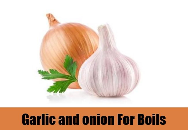 Garlic and onion for boils