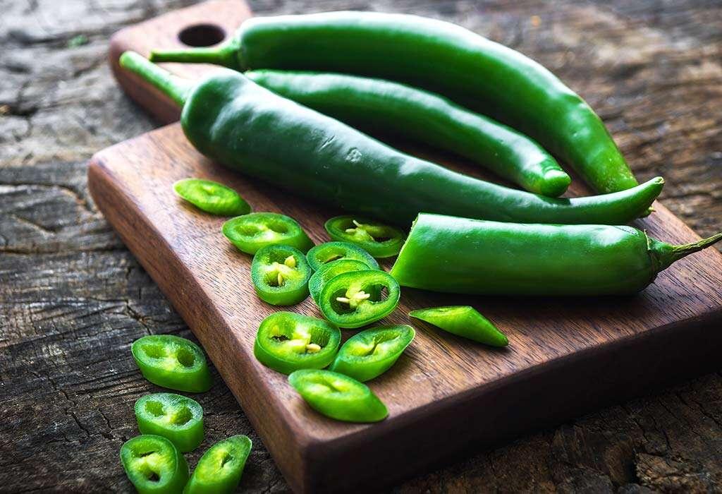 Health benefits of the green chili