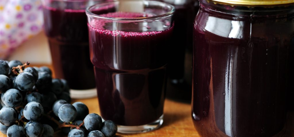 healthiest grape juice