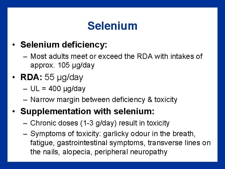 Selenium Poisoning