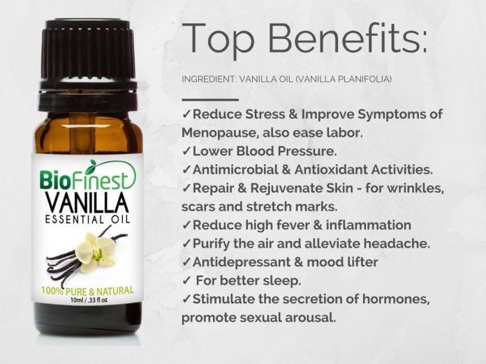 vanilla essential oil benefits